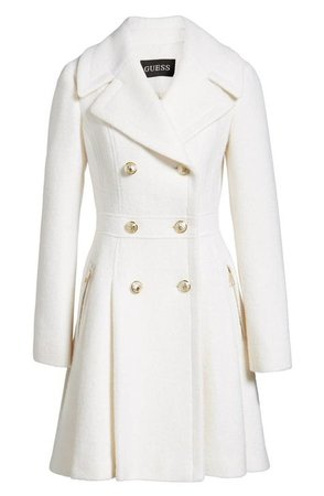 guess white trench coat