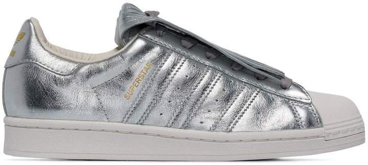 Superstar metallic low-top sneakers