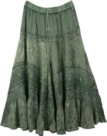 green skirt grunge fairycore