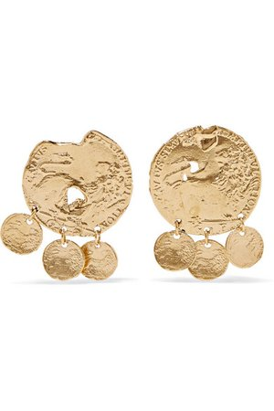 Alighieri | Baby Lion gold-plated earrings | NET-A-PORTER.COM