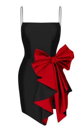 Rasario Bow Draped Silk Dress Size: 40