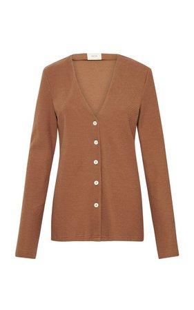 Textured-Knit Cotton Cardigan by Matin | Moda Operandi