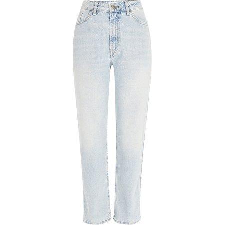 Light blue Mom denim jeans | River Island