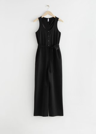 Twisted Racerback Jumpsuit - Black - Jumpsuits & Playsuits - & Other Stories