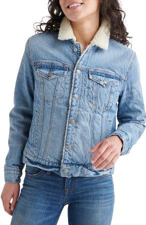 Tomboy Faux Shearling Lined Trucker Jacket