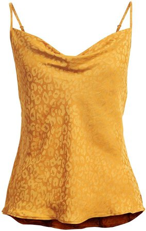 Leopard Cowl-Neck Camisole