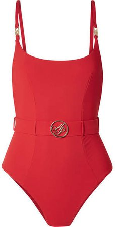 Laurella Belted Swimsuit - Red
