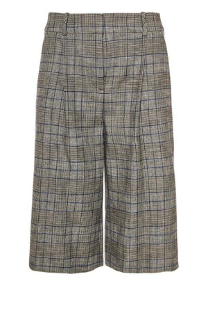 Checked tweed culottes