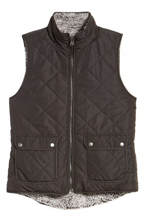 Thread & Supply Reversible Fleece Lined Quilted Vest | Nordstrom