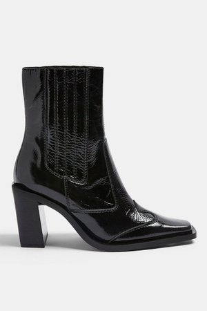 HONDOURAS Black Western Leather Boots | Topshop