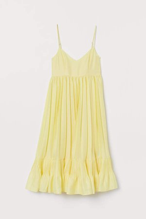 Jacquard-weave Dress - Yellow