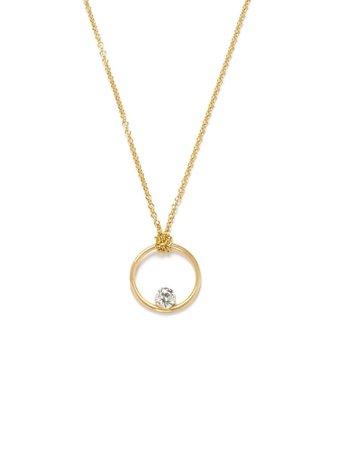 THE ALKEMISTRY 18kt Yellow Gold Floating Diamond Necklace - Farfetch