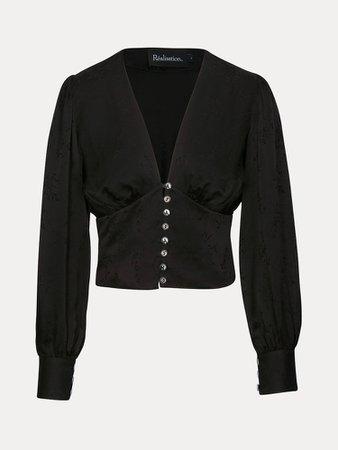The Kaia Voodoo Black Cropped Shirt   Réalisation Par