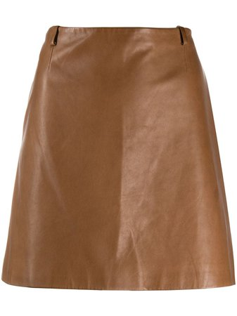 Prada Pre-Owned 2000s A-line Leather Skirt - Farfetch