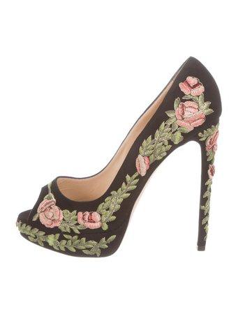 Marchesa Rose Peep-Toe Pumps w/ Tags - Shoes - MAC21687 | The RealReal