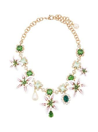Dolce & Gabbana Flower Embellished Necklace