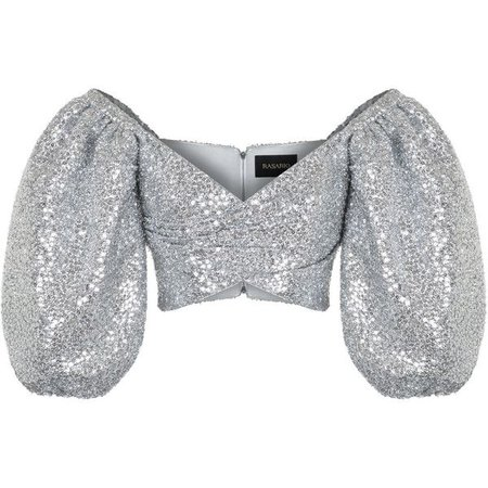 Silver Glitter Top