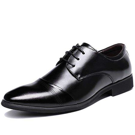 Amazon.com | OUOUVALLEY Lace up Patent Leather Oxford Dress Shoes Formal Wedding Shoes 8015 | Oxfords