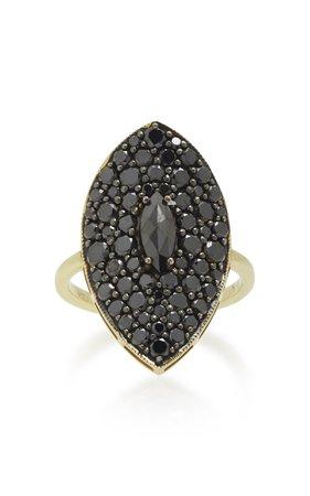 ILA Moon Shadow 14K Gold and Diamond Ring