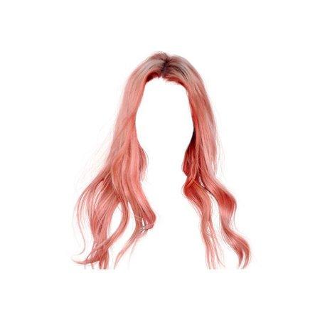 wavy pink hair
