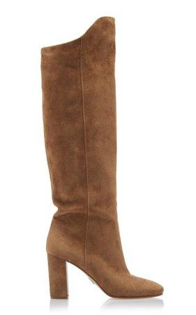Suede Knee Boots By Prada | Moda Operandi