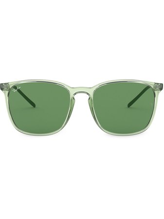 Ray-Ban Square-Frame Logo Sunglasses