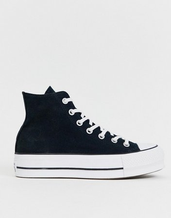 Converse Chuck Taylor All Star Hi Lift sneakers in black | ASOS