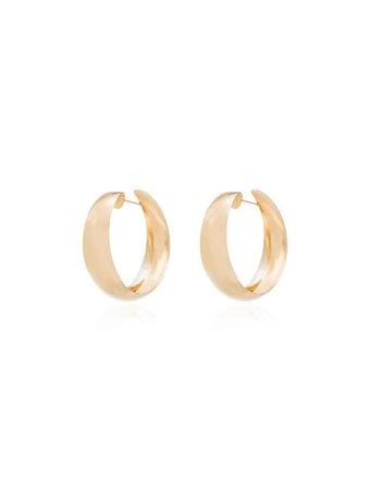 Metallic Loren Stewart Dome Hoop Earrings For Women   Farfetch.com