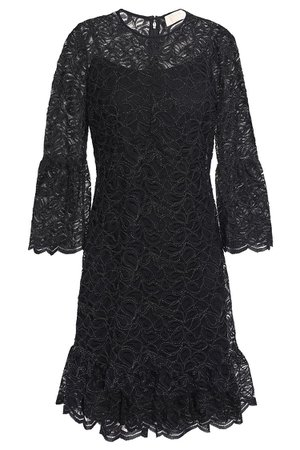 Black Metallic corded lace mini dress | Sale up to 70% off | THE OUTNET | MICHAEL MICHAEL KORS | THE OUTNET