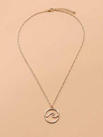 Round Charm Necklace   SHEIN USA