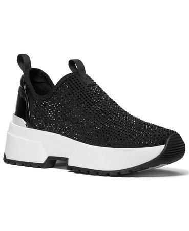 Black Michael Kors Cosmo Stretch Slip-On Sneakers & Reviews - Athletic Shoes & Sneakers - Shoes - Macy's