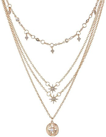 Amazon.com: Victray Boho Star Necklace Coin Neck Chain Choker Pendant Necklaces Fashion Jewelry for Women and Girls (Gold): Clothing
