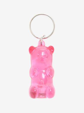 Pink Gummy Bear LED Key Chain