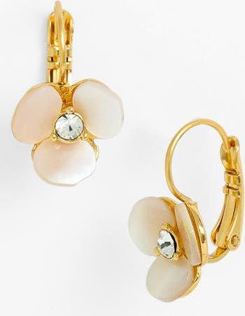 kate spade new york disco pansy drop earrings | Nordstrom