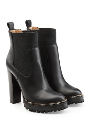 Black Leather Ankle Boots Gr. IT 38