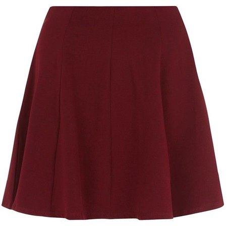 Burgundy Skater Skirt ($15)