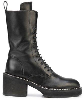 KHAITE The Cody chunky-heel Boots - Farfetch