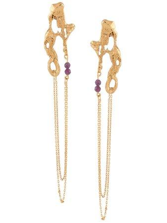 LOVENESS LEE Disoca chain-drop Earrings - Farfetch