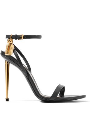 TOM FORD | Padlock leather sandals | NET-A-PORTER.COM