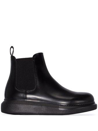 Alexander McQueen Leather Chelsea Boots - Farfetch