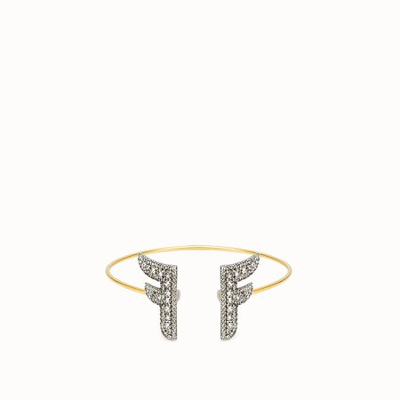 Gold and palladium coloured bracelet - FFREEDOM BRACELET | Fendi