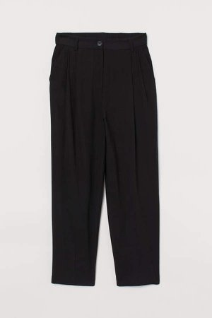 Fitted Twill Pants - Black