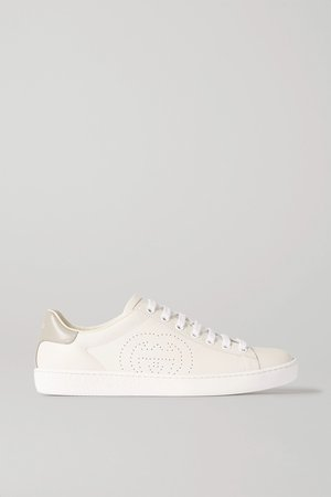 White Ace leather sneakers | Gucci | NET-A-PORTER