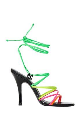 Lace-Up Patent Leather Sandals By The Attico   Moda Operandi