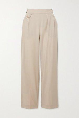 Marias Wool Tapered Pants - Beige
