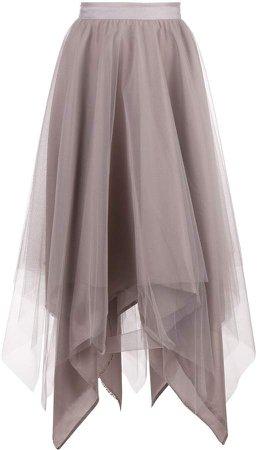 Marc Le Bihan asymmetric hem silk skirt