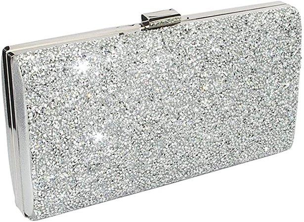 Silver Clutch Evening Bag, Fit & Wit Giltter Beaded Flap Clutch Evening Handbag Purse: Amazon.ca: Jewelry
