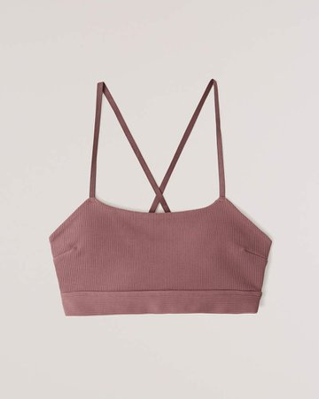 Pink Women's Seamless Ribbed Bralette | Women's New Arrivals | Abercrombie.com