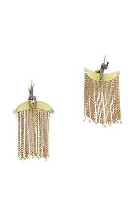 Bibi van der Velden Monkey Chain Earrings