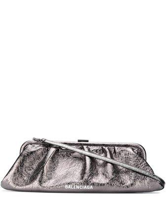 Balenciaga Metallic Cloud Clutch - Farfetch